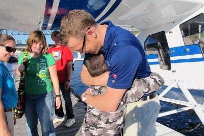 big hug for captain keith