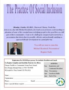 Michael Kendrick Registration Flyer